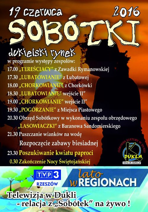 Dukla: Zaproszenie na SOBÓTKI 2016
